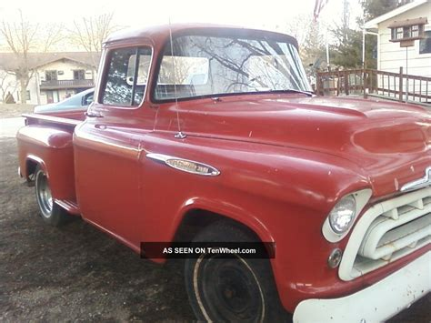 1957 chevy stepside pick up 1957 chevy pick up 3100 short bed stepside