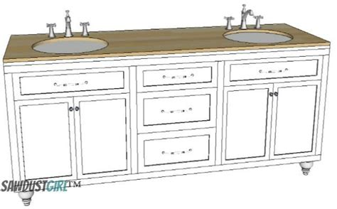 free bathroom vanity plans 32 quot vanity with center drawers free plans sawdust 174