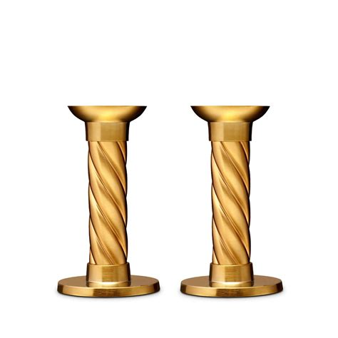 Candlestick L | l objet gold carrousel candlesticks small set of 2