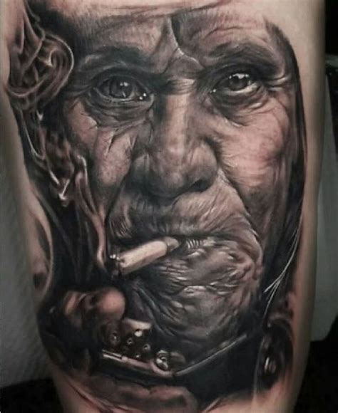 best portrait tattoos 15 best portraits images on cool