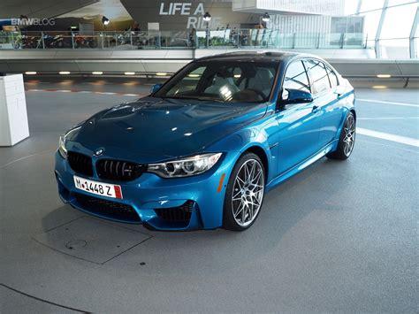 Bmw M3 Blue by Bmw M3 In Blue Delivered At Bmw Welt