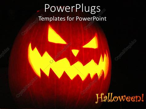scary o lantern templates powerpoint template theme with o lantern