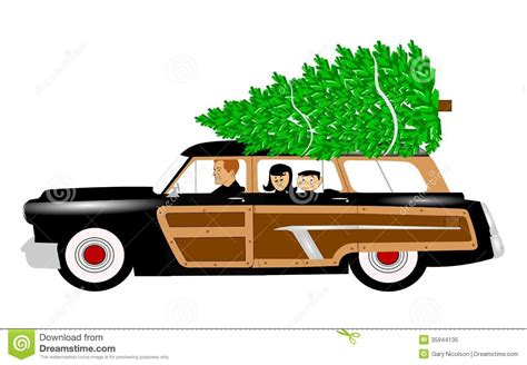 christmas jeep clip art christmas tree shopping stock illustration image of