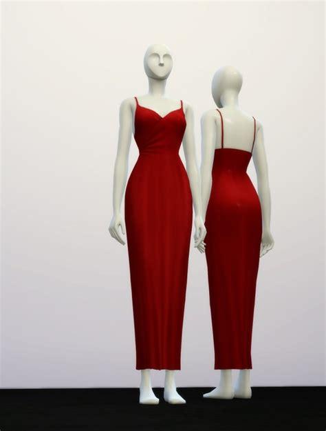 Basic Line Maxi Dress basic maxi dress at nail 187 sims 4 updates