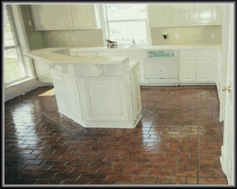 brick kitchen floor kitchen flooring trends balance need for and practicality