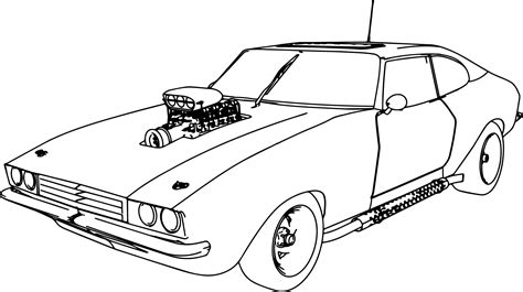 coloring pictures of vintage cars muscle car 70 old sport car coloring page wecoloringpage