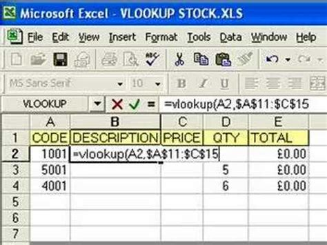 excel 2010 database tutorial pdf microsoft excel vlookup function tutorial part 1 youtube