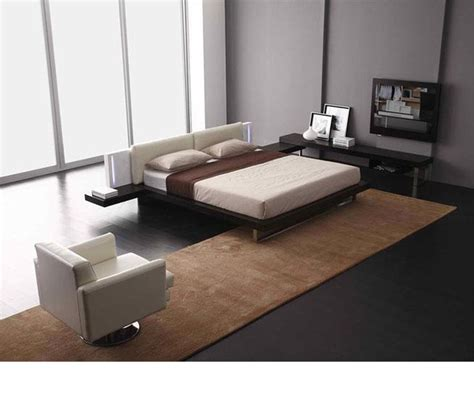 Contemporary Platform Bed Dreamfurniture Quot Reno Tech Quot Contemporary Platform Bed