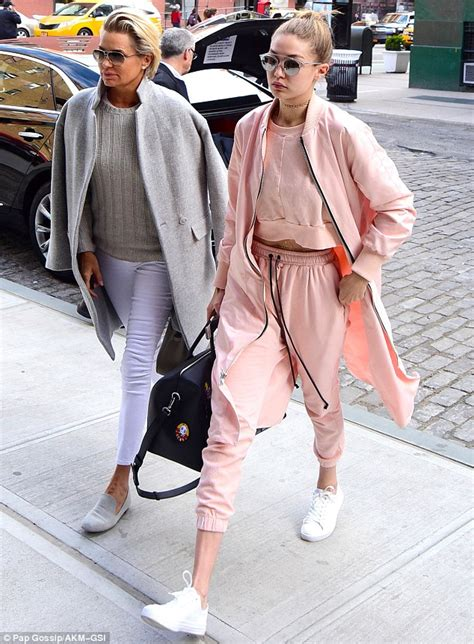 where to buy the same clothes as yolanda foster gigi hadid looks ready for spring while in new york with