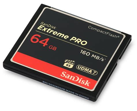 cf card sandisk pro 160mb s 64gb cf card review with read