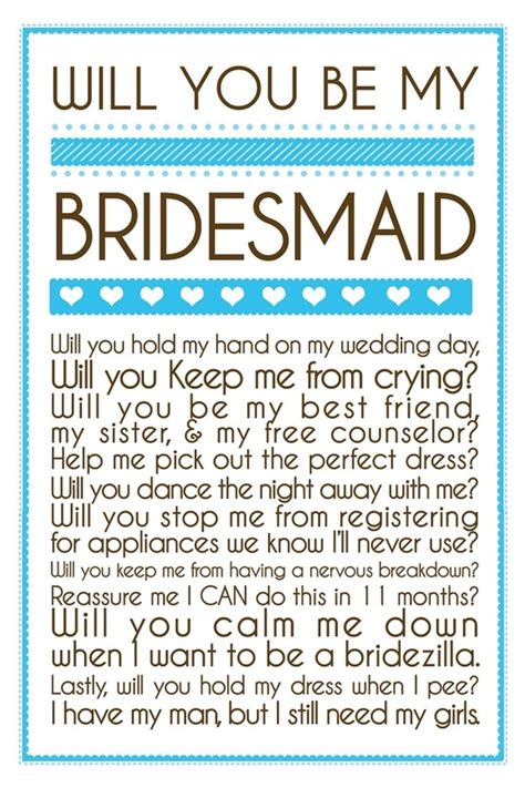 will you be my bridesmaid cards template