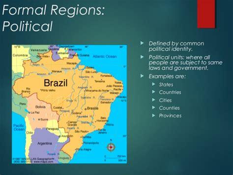 exle of formal region regions
