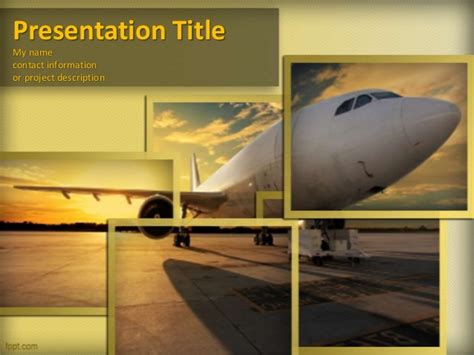 Aircraft Powerpoint Template And Powerpoint Background For Airline Ppt Template