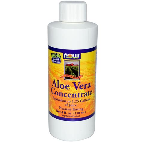 Aloe Concentrate now foods aloe vera concentrate 4 fl oz 118 ml iherb