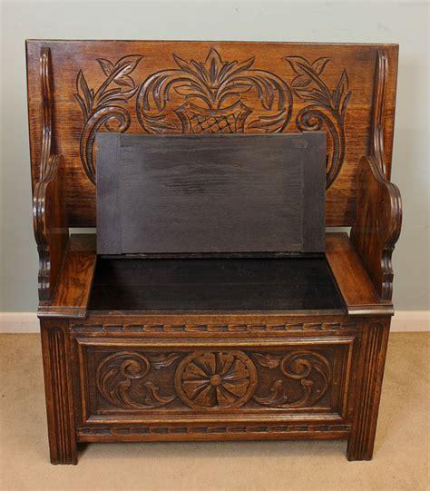 antique settle bench antique antique carved oak monks bench settle antiques