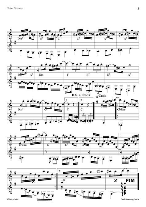 Partituras para Violão 7 Cordas: Noites Cariocas (Jacob do