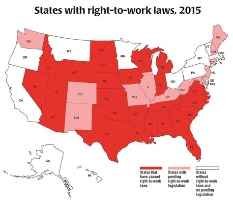 map to work right to work states map my