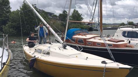sailboat pole gin pole mast raising if boat youtube
