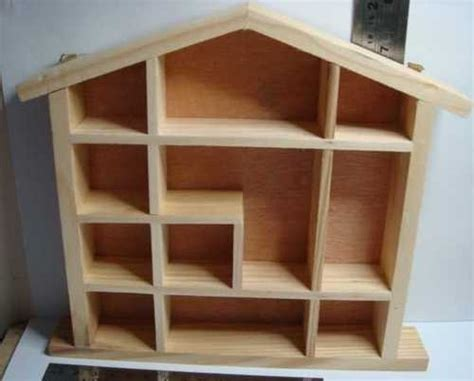 dolls house shelves display unit for collectable miniatures dolls house shaped shelf shel