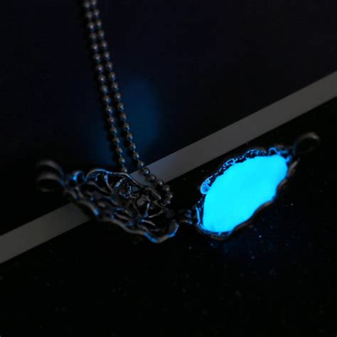 Magic Glowing magic glow in the drop locket necklace torch pendant cage gifts chain new ebay