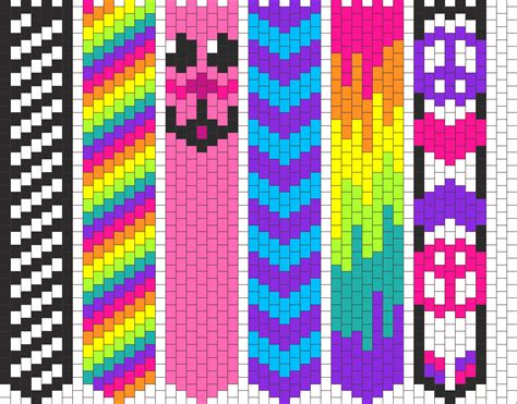 kandi patterns for kandi cuffs simple pony bead patterns
