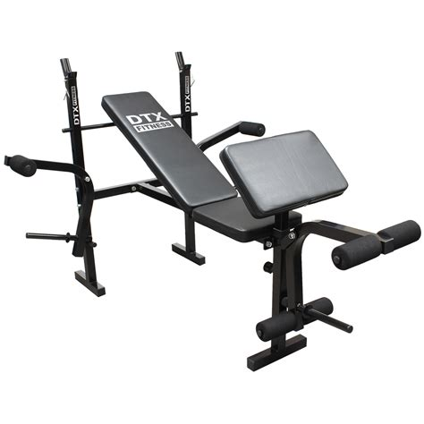 workout bench with preacher curl dtx fitness weights bench multi gym dumbell workout leg