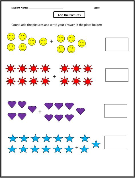 Math Worksheets by Math Sheets For Grade 1 To Print Activity Shelter