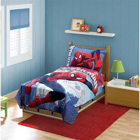 marvel toddler bedding marvel spider man 4 piece toddler bedding set walmart com