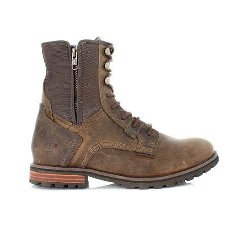 black rugged boots mens shoes caterpillar andreas black leather canvas rugged ankle boots size 6 12 ebay