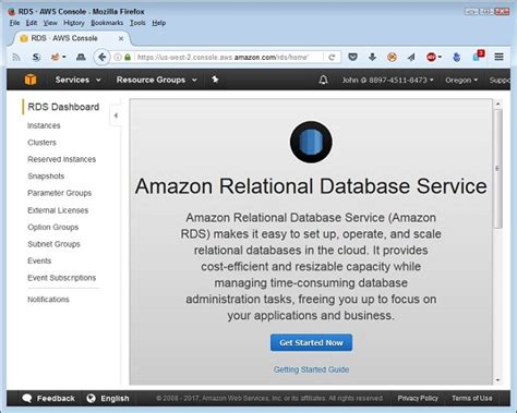 ec2 console access how to access the aws rds management console dummies