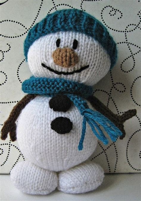 knitted snowman mr snowman knitting pattern knitting and crochet