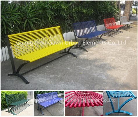 used park benches hot sale antirust durable used metal park benches for sale