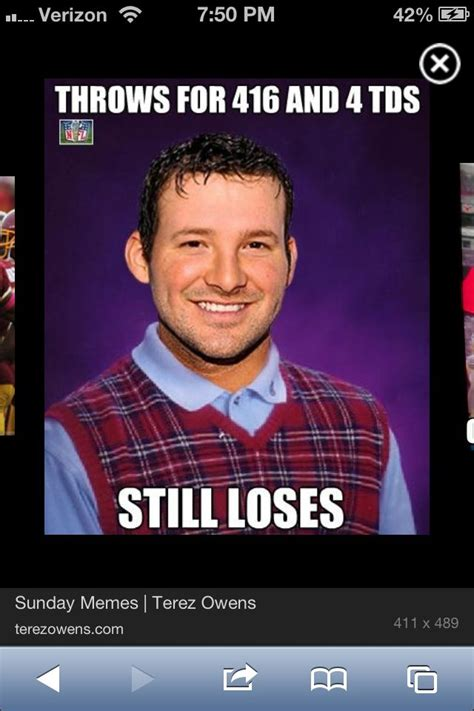 Tony Romo Meme - funny tony romo meme football funnies pinterest