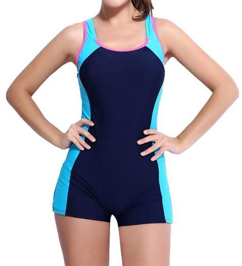 swing suits womens one piece swimsuit boyleg swimwear sports boy short