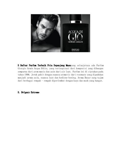 Daftar Parfum Pria Terbaik 5 daftar parfum terbaik pria sepanjang masa