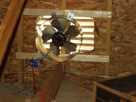 installing a gable vent fan attic ventilation fans a concord carpenter
