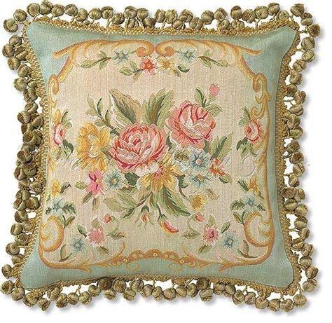 Tapestry Pillows For by Tapestry Aubusson Pillow Eclectic Decorative