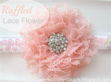 diy 4 quot vintage lace flower frilly hair flowers headbands 1468 best flower tutorials images on fabric