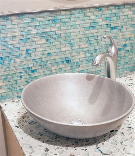 diy recycled glass countertops daily magazine