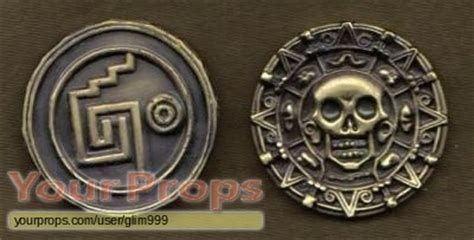 Aztec Replica Lucky Coin of the caribbean cursed aztec gold coin disney world replica prop