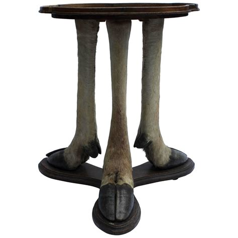 deer legs side table austria circa 1900 at 1stdibs