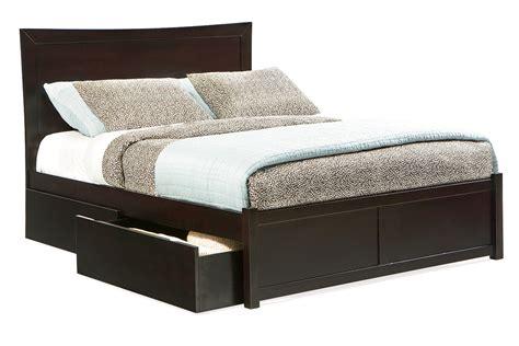 bed miami miami platform bed flat panel footboard