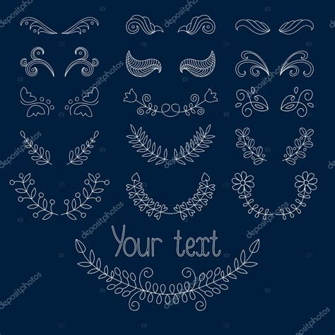 stock vector calligraphic design elements download set calligraphic design elements stock vector