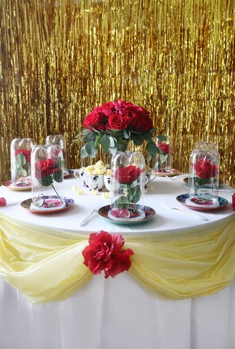 Beauty And The Beast Decorations by 25 Best Ideas About Princess Belle Party On Pinterest