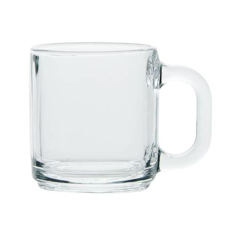 Coffee Glass libbey 5201 10 oz clear glass coffee mug