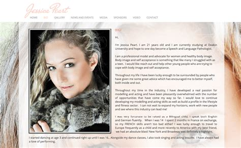 model bio template 10 excellent exles of how to design a modeling portfolio