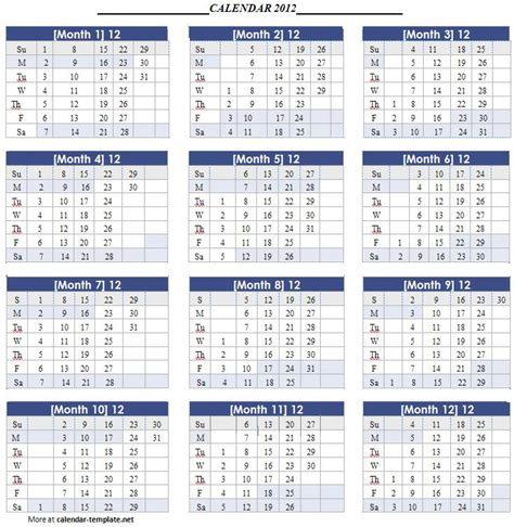 calendar template 2012 calendar template for calendar template 2016