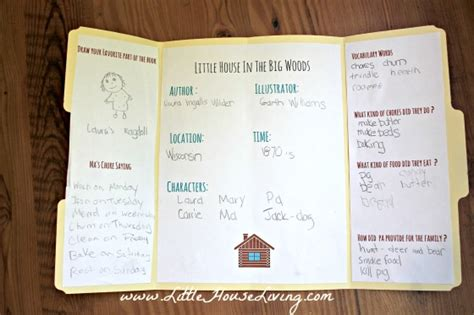 house in the big woods book report house in the big woods printable lapbook pages