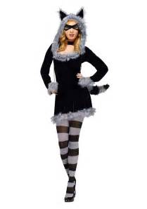 womens halloween costumes with masks racy raccoon costume