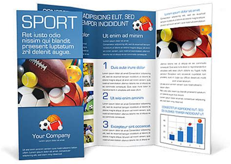 sports brochure templates free sport brochure template design id 0000000381